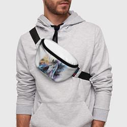 Поясная сумка Акварельная лошадь цвета 3D-принт — фото 2