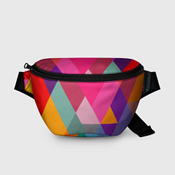 Поясная сумка Разноцветные полигоны цвета 3D — фото 1