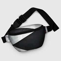Поясная сумка Чёрно-белый цвета 3D — фото 2