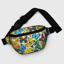 Поясная сумка Тропические бабочки цвета 3D-принт — фото 2