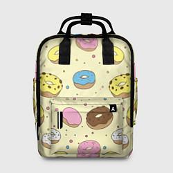 Рюкзак женский Сладкие пончики цвета 3D — фото 1