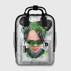 Женский городской рюкзак с принтом BILLIE EILISH, цвет: 3D, артикул: 10201691305839 — фото 1