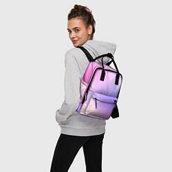 Рюкзак женский Светлый градиент розовый мода цвета 3D-принт — фото 2