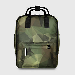 Рюкзак женский Полигональный камуфляж цвета 3D-принт — фото 1