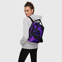 Рюкзак женский Цветные разводы цвета 3D — фото 2