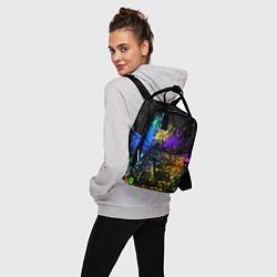 Рюкзак женский Брызги красок цвета 3D — фото 2