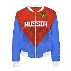 Женский бомбер Russia Red & Blue