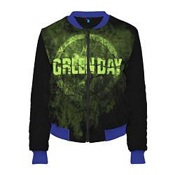 Бомбер женский Green Day: Acid Voltage цвета 3D-синий — фото 1