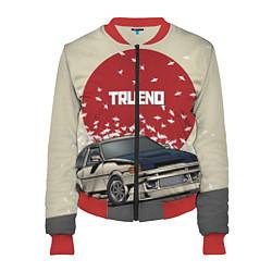 Бомбер женский Toyota Trueno ae86 цвета 3D-красный — фото 1