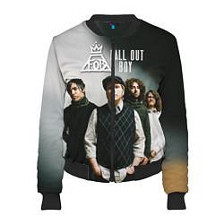 Бомбер женский Fall Out Boy: Guys цвета 3D-черный — фото 1