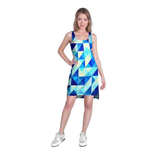 Женская туника Синяя геометрия / 3D – фото 3