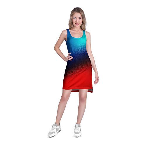 Женская туника Синий и красный / 3D – фото 3
