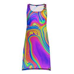 Туника женская Цветные разводы цвета 3D-принт — фото 1