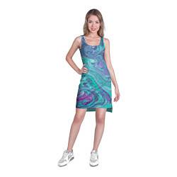 Туника женская Смесь красок цвета 3D — фото 2