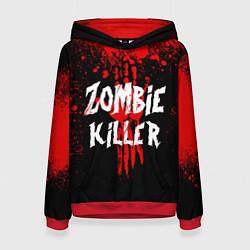 Толстовка-худи женская Zombie Killer цвета 3D-красный — фото 1