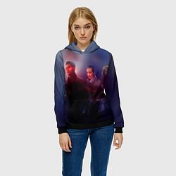 Толстовка-худи женская Teen Wolves цвета 3D-черный — фото 2