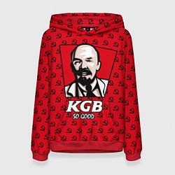 Толстовка-худи женская KGB: So Good цвета 3D-красный — фото 1
