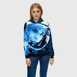 Толстовка-худи женская Gagarin Art цвета 3D-черный — фото 2