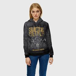 Толстовка-худи женская Suicide Silence: The Black Crown цвета 3D-черный — фото 2