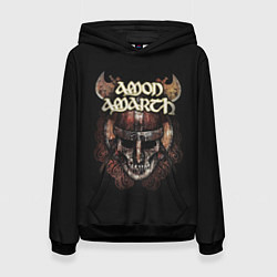 Толстовка-худи женская Amon Amarth: Death Viking цвета 3D-черный — фото 1