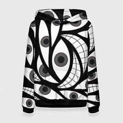 Толстовка-худи женская Alchemist Eyes цвета 3D-черный — фото 1