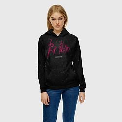 Толстовка-худи женская Pink Phloyd: Lonely star цвета 3D-черный — фото 2