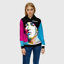 Толстовка-худи женская Eminem Poly Art цвета 3D-черный — фото 2