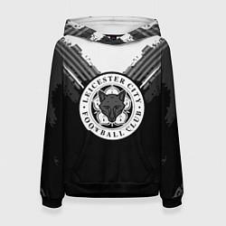 Толстовка-худи женская FC Leicester City: Black Style цвета 3D-черный — фото 1