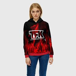 Толстовка-худи женская Thousand Foot Krutch: Red Flame цвета 3D-красный — фото 2