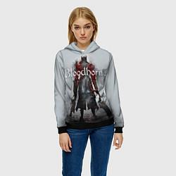 Толстовка-худи женская Bloodborne: Hell Knight цвета 3D-черный — фото 2