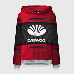 Толстовка-худи женская Daewoo Sport цвета 3D-меланж — фото 1