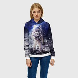 Толстовка-худи женская Starfield: Astronaut цвета 3D-белый — фото 2