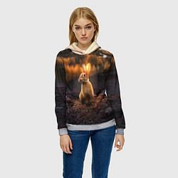 Толстовка-худи женская Солнечный зайчик цвета 3D-меланж — фото 2
