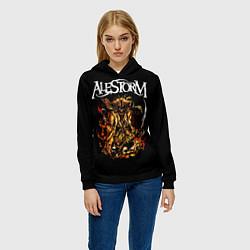 Толстовка-худи женская Alestorm: Flame Warrior цвета 3D-черный — фото 2