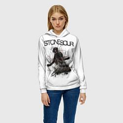 Толстовка-худи женская Stone Sour: Rage цвета 3D-белый — фото 2