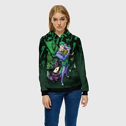 Толстовка-худи женская Joker Games цвета 3D-черный — фото 2
