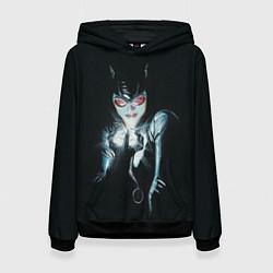 Толстовка-худи женская Catwoman цвета 3D-черный — фото 1