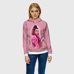 Толстовка-худи женская Ariana Grande Ариана Гранде цвета 3D-белый — фото 2