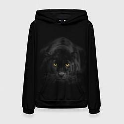 Толстовка-худи женская Пантера цвета 3D-черный — фото 1