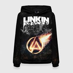 Толстовка-худи женская Linkin Park: Comet цвета 3D-черный — фото 1