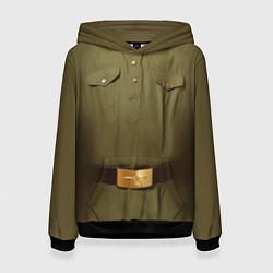 Толстовка-худи женская Униформа солдата цвета 3D-черный — фото 1