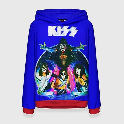 Женская толстовка Kiss Show / 3D-Красный – фото 1