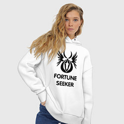 Толстовка оверсайз женская Dwarf Fighter - Fortune Seeker цвета белый — фото 2