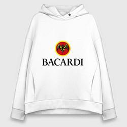 Толстовка оверсайз женская Bacardi цвета белый — фото 1