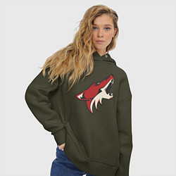 Толстовка оверсайз женская Phoenix Coyotes цвета хаки — фото 2