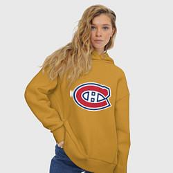 Толстовка оверсайз женская Montreal Canadiens цвета горчичный — фото 2