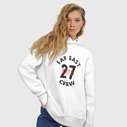 Толстовка оверсайз женская Far East 27 Crew цвета белый — фото 2