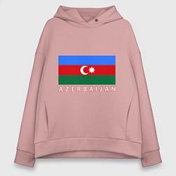 Толстовка оверсайз женская Азербайджан цвета пыльно-розовый — фото 1