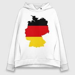 Толстовка оверсайз женская Германия (Germany) цвета белый — фото 1