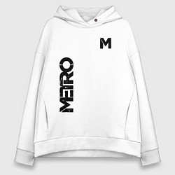 Толстовка оверсайз женская METRO M цвета белый — фото 1